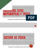 Preguntas Icfes Matematicas y fisica para practicar