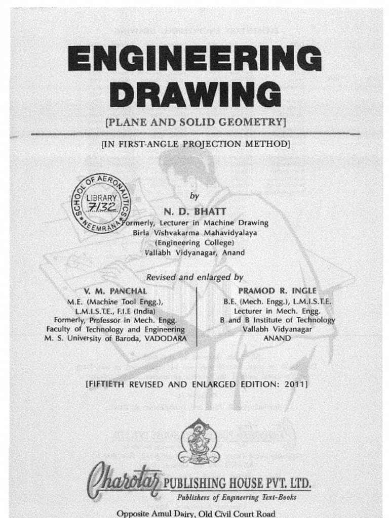 N D Bhatt Engineering Drawing Book Free Download