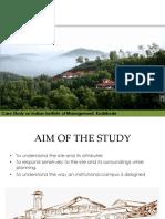 IIM Kozhikode_Architecture case study