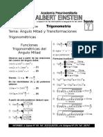 Angulo Mitad y Transformaciones Trigonometricas