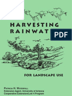 Arizona Manual on Rainwater Harvesting for Landscape Use