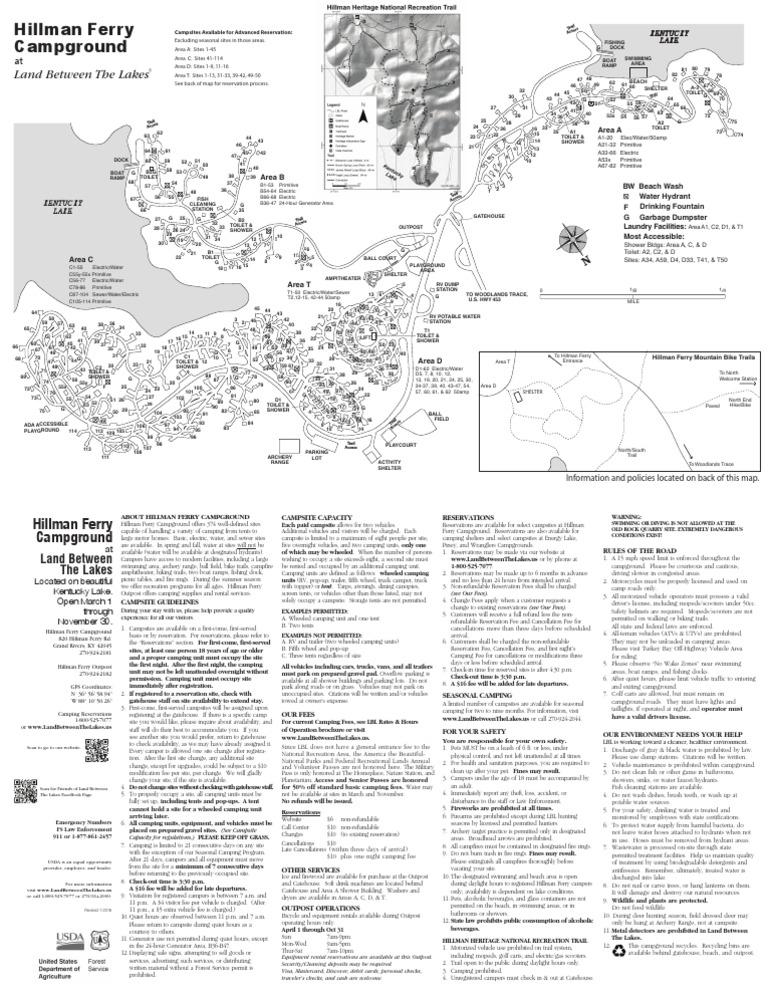 Hillman Ferry Campground Map 2016LBLHillmanFerryCampgroundMap   Campsite   Camping