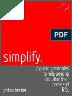 Simplify Joshua Becker Epub