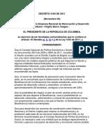 Decreto 4184 Del 2011