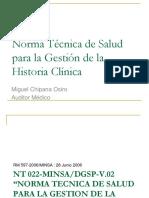 CLASE Norma Técnica Historia Clínica - AMBECO 2016-1 - CLASE 23092016