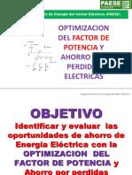 Optimización del factor de potencia y ahorro por perdidas eléctricas