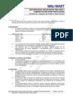02222 - Excavación, Relleno y Compactación Para Instalación