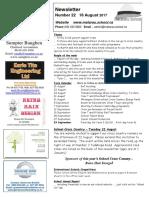 Newsletter Term 3 Week 4