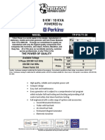 10 KVA Perkins Diesel Generator Set - Non EPA - 50Hz TP-P10-T1-50