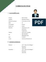 Curriculum Vitae Profesional Mario Esteban Maradiegue Herrera