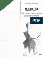 324262554 Metodologia de La Investigacion Carlos Mendez 1 Pd111f