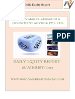 18 August, Equity Daily Report By Money Maker Research