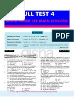 JEE Main Full Test Paper4