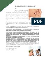 Documents.mx Utilizacion Correcta Del Tono de La Voz