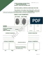 Pv a o Thumbprints Signature Card