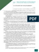 Chasin - Sobre o Conceito de Totalitarismo