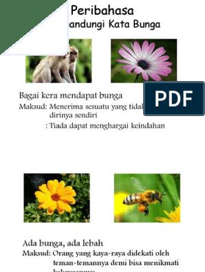 Peribahasa Mengandungi Kata Bunga