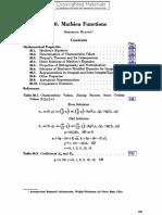 20. Mathieu Functions