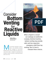 Consider Bottom Venting for Reactive Liquid