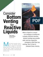 Consider Bottom Venting for Reactive Liquid