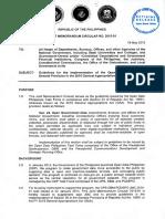 Joint Memorandum Circular No. 2015-01