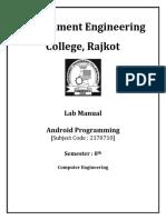 Andriod Lab Manual
