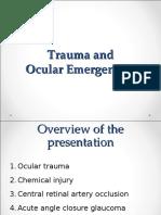 Ocular Emergencies Trauma