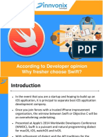 According to Developer Opinion Why Fresher Choose Swift