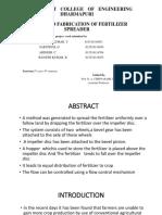 Fertilizer Spreader-gce,dharmapuri project6