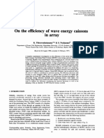 (1997) on the Efficiency of Wave Energy Caissons in Arrays