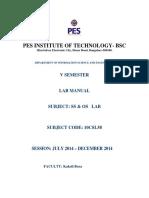 Ss&Os Laboratory Manual