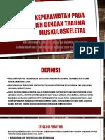 Asuhan Keperawatan Pada Pasien Dengan Trauma Muskuloskeletal