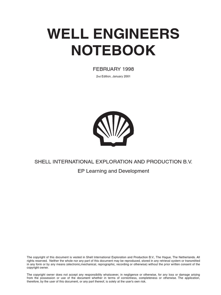 803005a3bf9 Shell Well Engineers Notebook