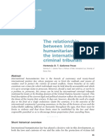 The Relationship Between IHL and the International Criminal Tribunals