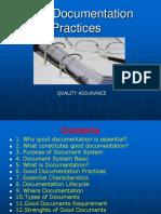 Good Documentation Practices