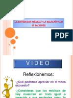 La Relación Médico Páciente- La Entrevista Médica