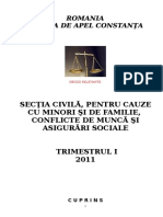 Sectia Civila - Decizii Relevante Trimestrul I 2011 CA Constanta