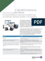 Omnipcx Enterprise Communication Server Datasheet Es