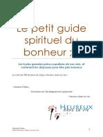 Le Petit Guide Spirituel Du Bonheur (1)