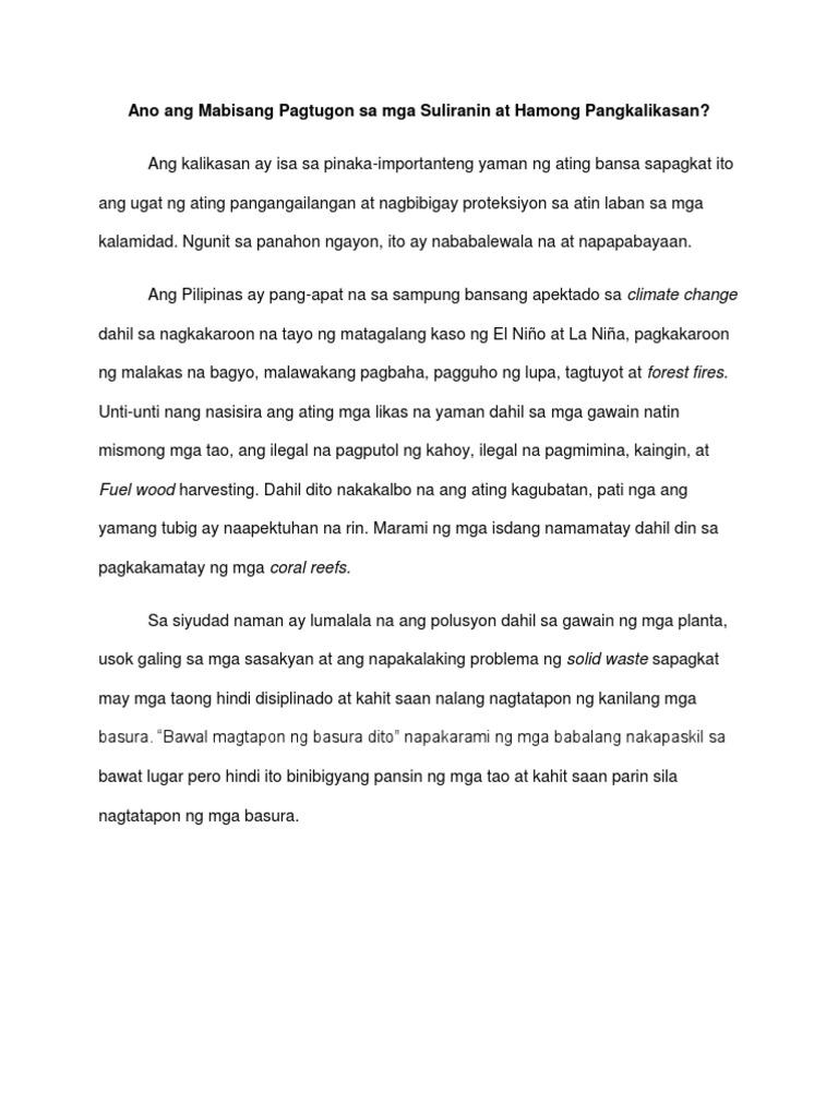 Ano Ang Mabisang Pagtugon Sa Mga Suliranin at Hamong