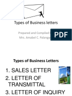 Types of Business Letters Ppt