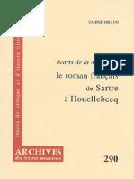 Sabine Hillen Le roman français de Sartre à Houellebecq  Ecarts de la modernité.pdf
