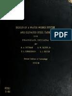 Design of Water Wor 00 Ditt