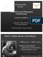 The History and Philosophy of Astronomy Lecture 22