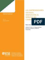Emprendedores sociales. Innovación al servicio del cambio social