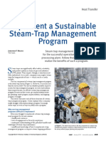 Implement a Sustainable Steam Trap Management Program Aiche