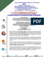 Posición oficial  de la ANEP sobre los proyectos de Ley de Gestión Integrada del Recurso Hídrico que se encuentran la Asamblea Legislativa