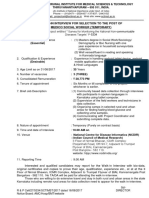 Notification SCTIMST Medico Social Worker Posts