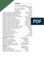 Dados do cabeçote Duratec 2.0 16v Ecosport
