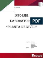 Informa Laboratorio de Control,Planta de Nivel